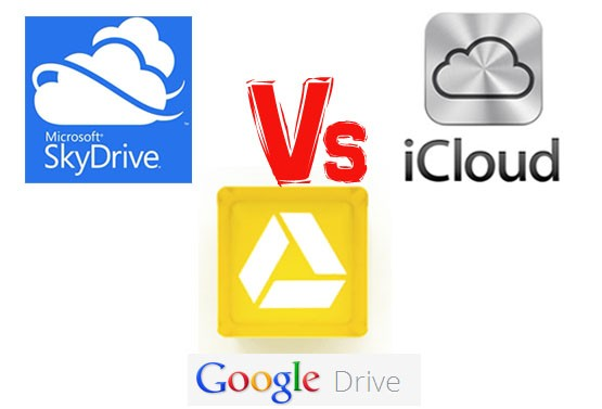 Google Drive Versus SkyDrive Versus iCloud: Cloud Storage Battle Hotting up